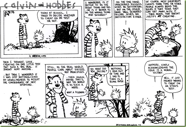 calvin & hobbes take on ethics